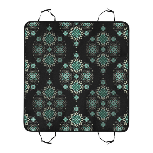 Green on black - seamless pattern with atmosphere New Pet Car Seat 55''x58''
