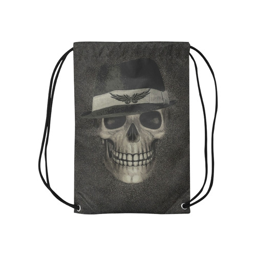 """Charming Skull C by JamColors Small Drawstring Bag Model 1604 (Twin Sides) 11""""(W) * 17.7""""(H)"""