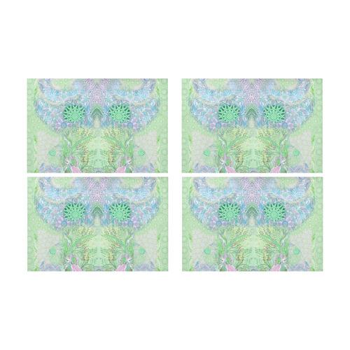 bleu 4 Placemat 12'' x 18'' (Four Pieces)