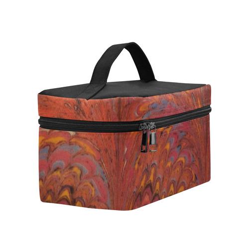 Vintage Marbleized Coral Lunch Bag/Large (Model 1658)
