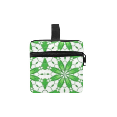 Sexy Green and White Lace Lunch Bag/Large (Model 1658)