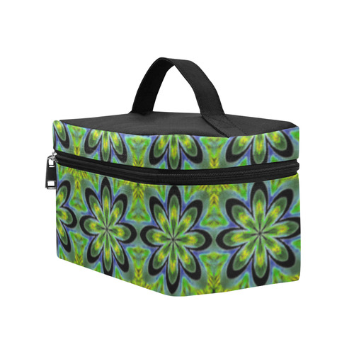 Green Geometric Lunch Bag/Large (Model 1658)