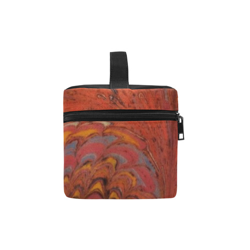 Vintage Marbleized Coral Lunch Bag/Large (Model 1658)