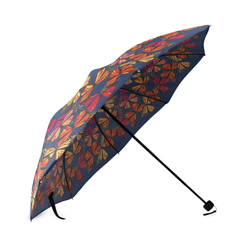 Hot Monarchs on Navy Foldable Umbrella (Model U01)
