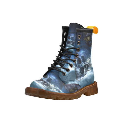 Skull and Moon Leather Martin Boots For Men Model 402H