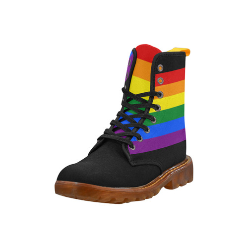 Gay Pride Rainbow Flag Stripes Martin Boots For Men Model 1203H