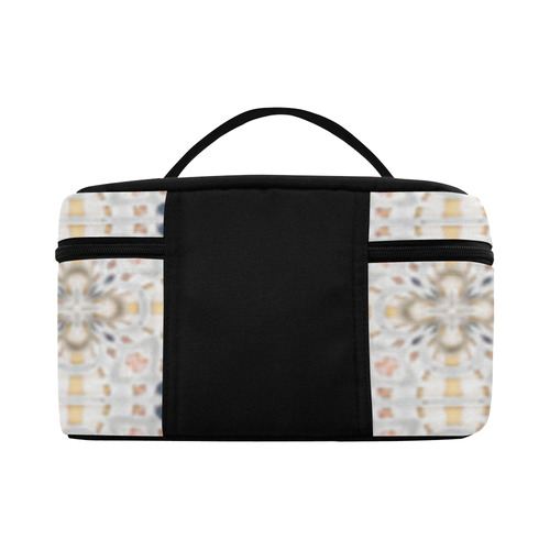 Blue Peach and Beige Abstract Lunch Bag/Large (Model 1658)