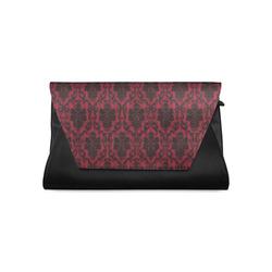 Gothic Victorian Blackn Red Pattern Clutch Bag Model 1630