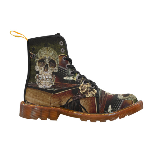Funny Skull and Book Martin Boots For Men Model 1203H