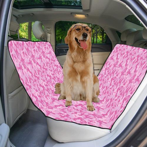 Shocking Pink Camouflage Pattern Pet Car Seat 55''x58''