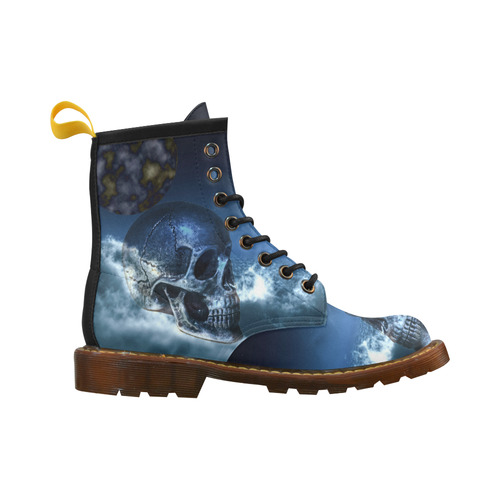 Skull and Moon High Grade PU Leather Martin Boots For Men Model 402H