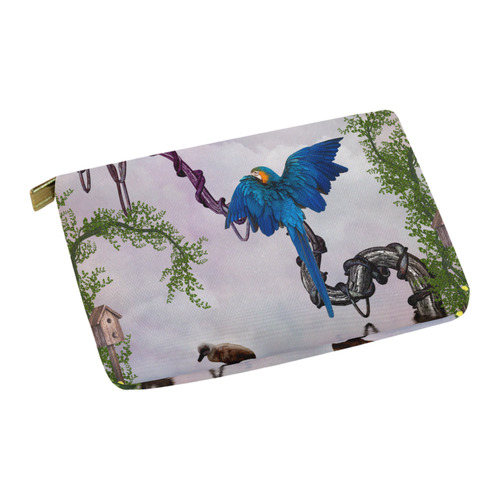 Awesome parrot Carry-All Pouch 12.5''x8.5''