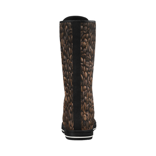 Coffee Beans Canvas Long Boots For Women Model 7013H