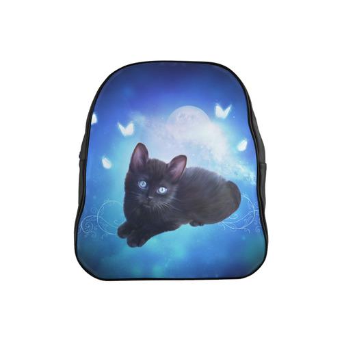 Cute little back kitten School Backpack (Model 1601)(Small)  881ede1ab5192