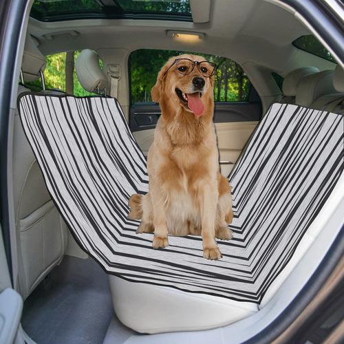 A Trendy Black Silver Big Cat Fur Texture Pet Car Seat 55''x58''