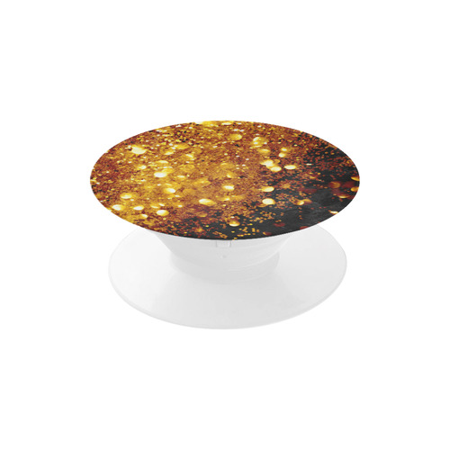 Golden glitter texture with black background Air Smart Phone Holder