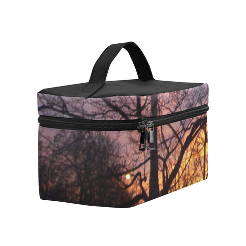 Purple Sunset Cosmetic Bag/Large (Model 1658)