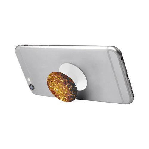 Golden glitter texture with black background Air Smart Phone Holder