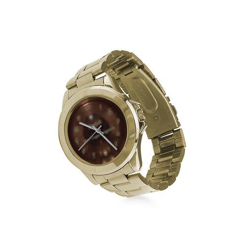 Ring Of Copper Tan Brown Custom Gilt Watch(Model 101)