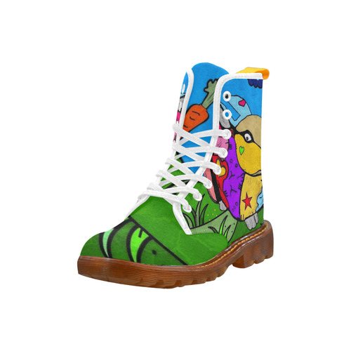 Rabbit Popart by Nico Bielow Martin Boots For Women Model 1203H