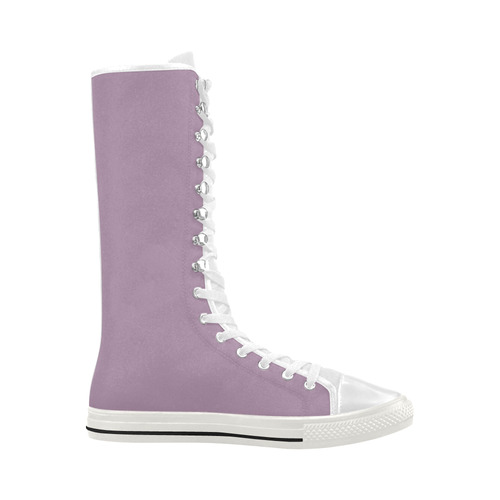 Lavender Herb Canvas Long Boots For Women Model 7013H
