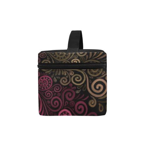 Psychedelic 3D Rose Lunch Bag/Large (Model 1658)