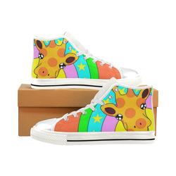 High Top Canvas Shoes for Kid (Model 017)