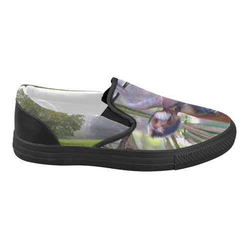 Female Bongo Slide Women's Slip-on Canvas Shoes (Model 019)