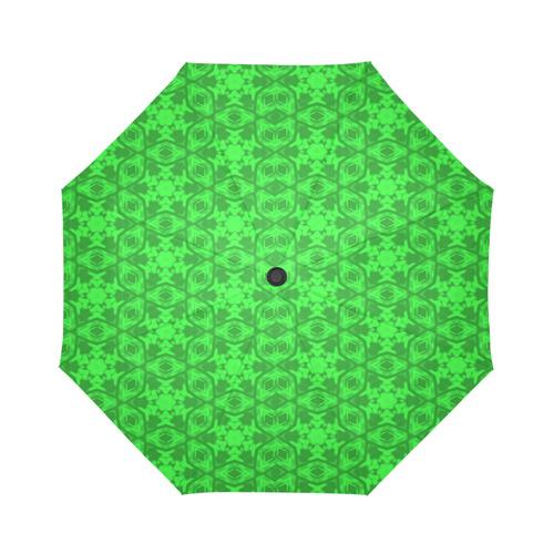 Greenery Kaleidoscope 8075 Auto-Foldable Umbrella