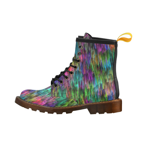 Rainbow Colors High Grade PU Leather Martin Boots For Women Model 402H
