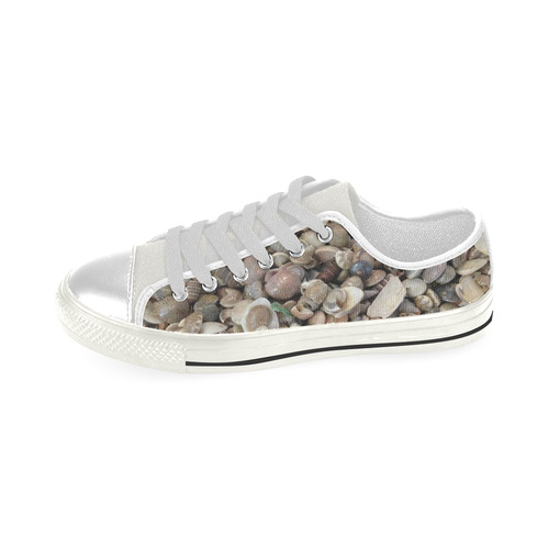 Beach Shells Low Top Canvas Shoes for Kid (Model 018)