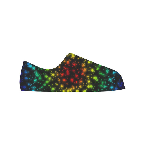 Starry Night Sky Low Top Canvas Shoes for Kid (Model 018)
