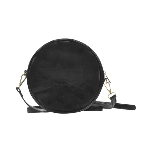 Steampunk Girl Damask Art Round Sling Bag (Model 1647)