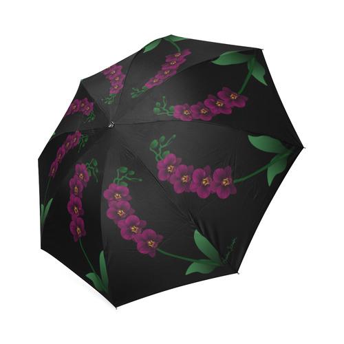 Orchid Mandala Foldable Umbrella (Model U01)