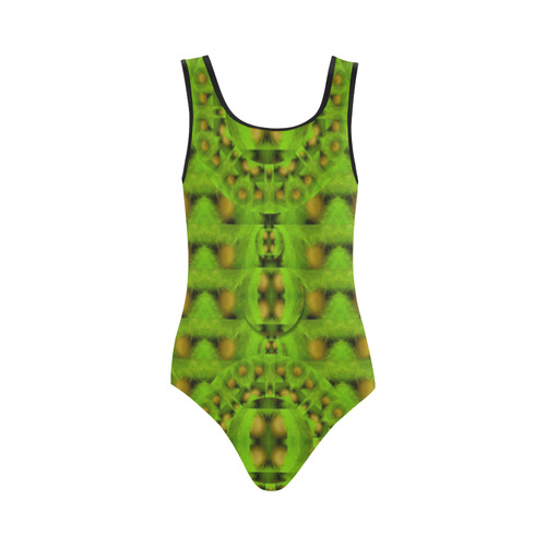 peace eggs and feathers tribute pop art Vest One Piece Swimsuit (Model S04)