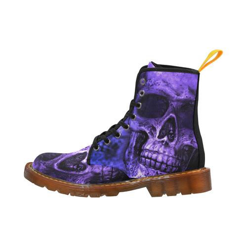 purple skull Martin Boots For Women Model 1203H