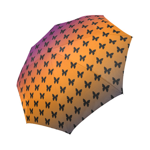 Summer Butterflies Auto-Foldable Umbrella (Model U04)