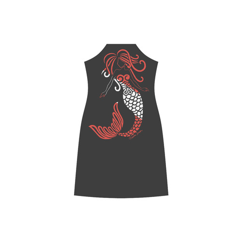 Tribal Scuba Flag Mermaid V-Neck Open Fork Long Dress(Model D18)