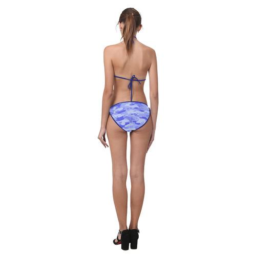 Blue Camo Custom Bikini Swimsuit (Model S01)