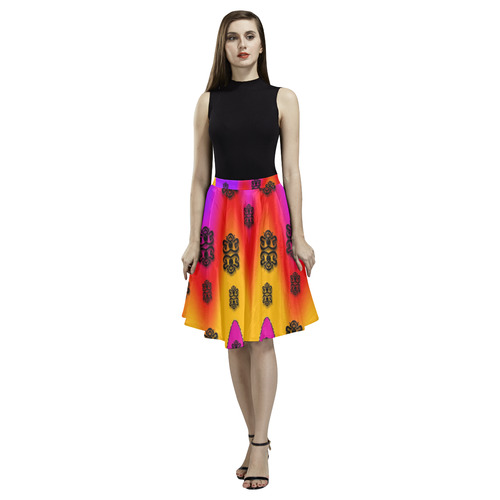 the big city melete pleated midi skirt model d15 id