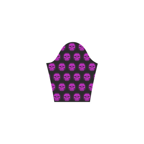 Sugarskull Pattern,purple by JamColors Tethys Half-Sleeve Skater Dress(Model D20)