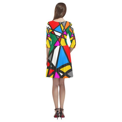 Colors by Nico Bielow Tethys Half-Sleeve Skater Dress(Model D20)