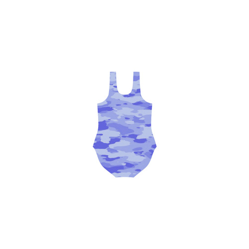 Blue Camo Vest One Piece Swimsuit (Model S04)