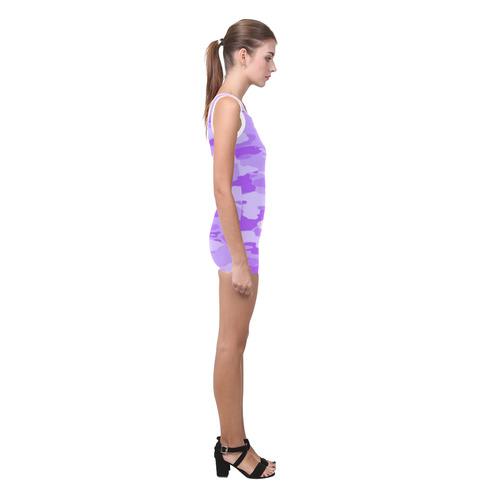 Purple Camo Classic One Piece Swimwear (Model S03)