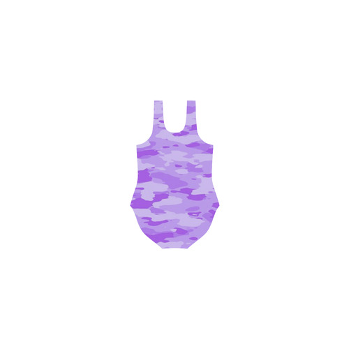 Purple Camo Vest One Piece Swimsuit (Model S04)