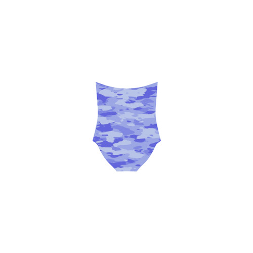Blue Camo Strap Swimsuit ( Model S05)