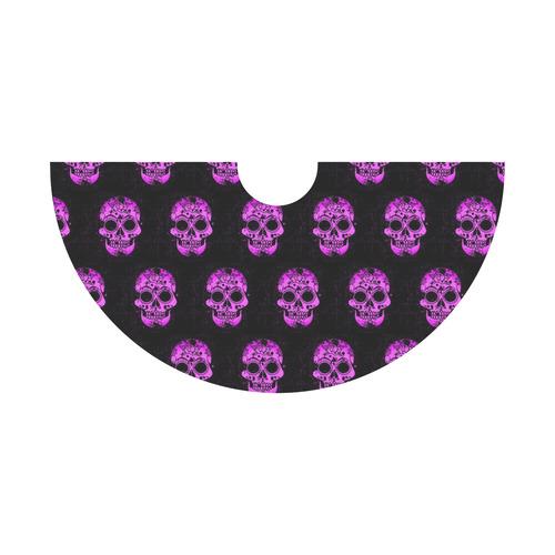 new skull allover pattern  04F by JamColors Tethys Half-Sleeve Skater Dress(Model D20)
