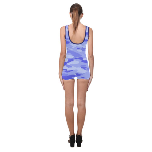 Blue Camo Classic One Piece Swimwear (Model S03)