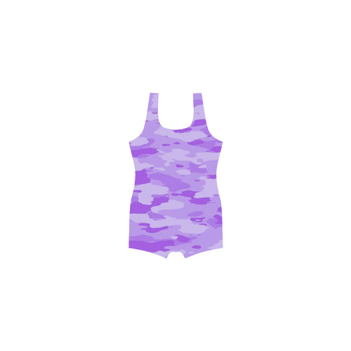 Purple Camo Classic One Piece Swimwear (Model S03)