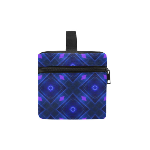 Midnight Blue Kaleidoscope Abstract Cosmetic Bag/Large (Model 1658)